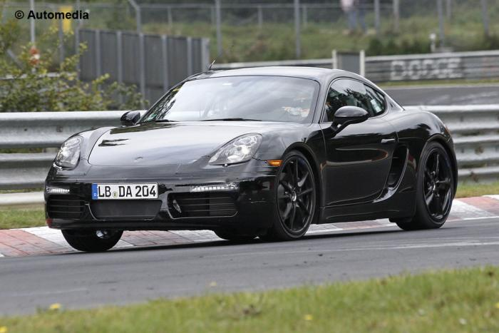 2016 Porsche Cayman Facelift Spotted For First Time