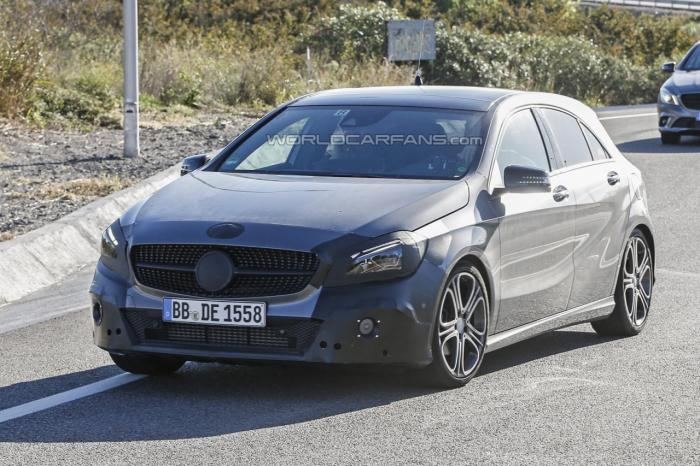 Mercedes-Benz A-Class Facelift Spied For The First Time