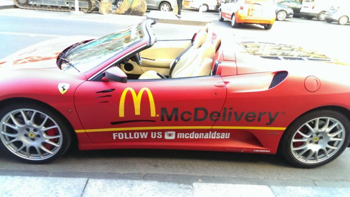 Ferrari F430 Spider Used As McDonalds Delivery Vehicle In Melbourne