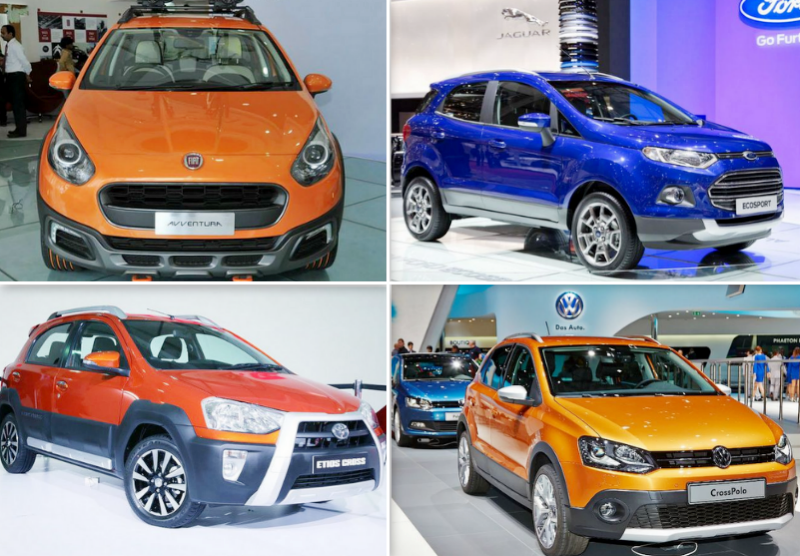 Fiat Avventura vs Ford EcoSport vs Toyota Etios Cross vs Volkswagen Cross Polo: Specifications Comparison
