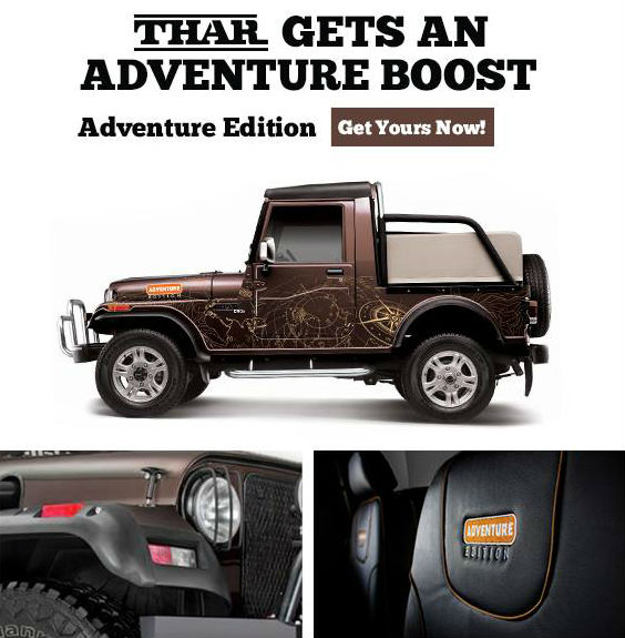 Mahindra Thar Special Adventure Edition Launched In India