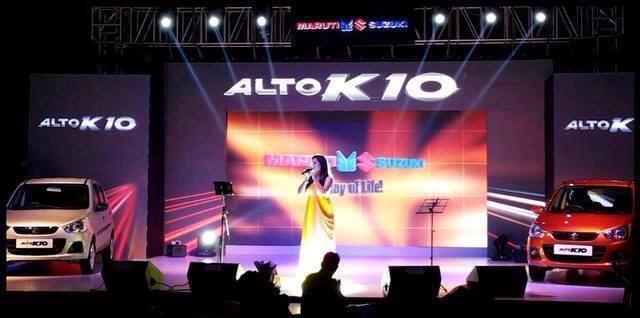 New Maruti Alto K10 Showcased At A Concert