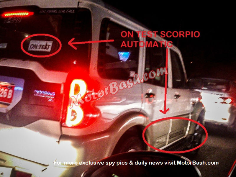 New Scorpio Automatic Spied On Test Run Launch Soon