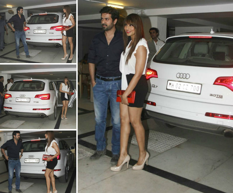 Bipasha Basu Drives New Audi Q7 SUV