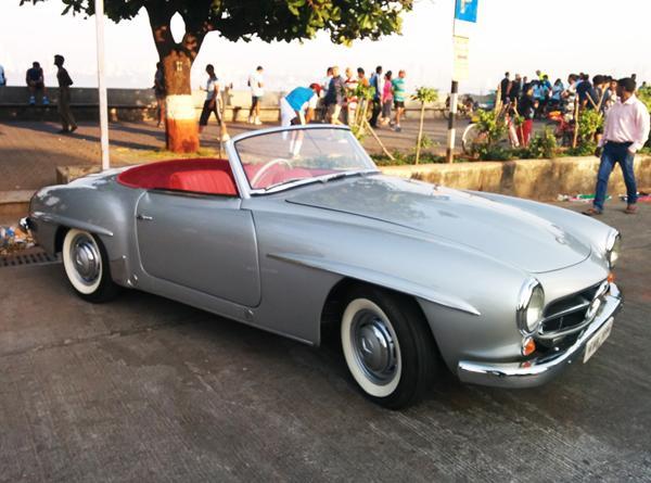 Mercedes-Benz Classic Car Rally Held In Mumbai