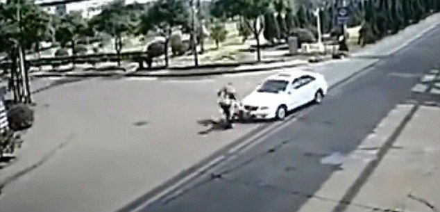 Car Crash Turned Biker Into A Fireball
