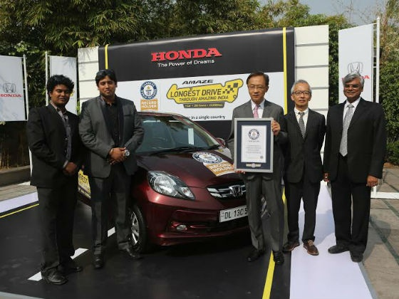 Amaze Drives Honda Into Guinness Book Of World Records