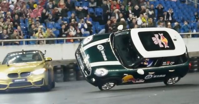 BMW M4 Created Guinness World Records For Maximum Drifts Around A Car On Two Wheels