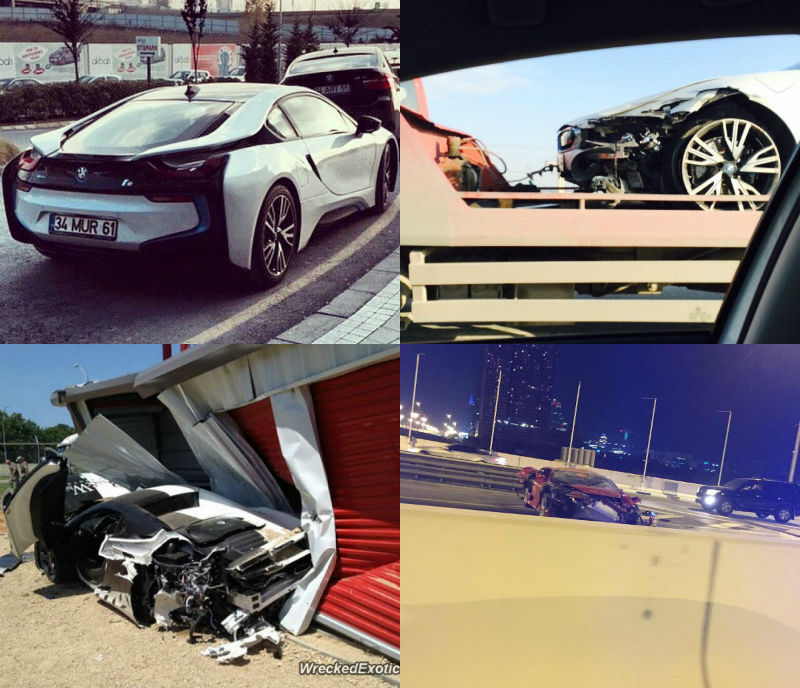 BMW i8 Crashed In Istanbul Turkey