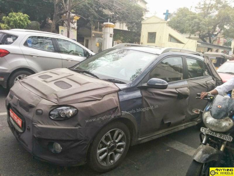 Hyundai Elite i20 Cross Spied Testing In Chennai