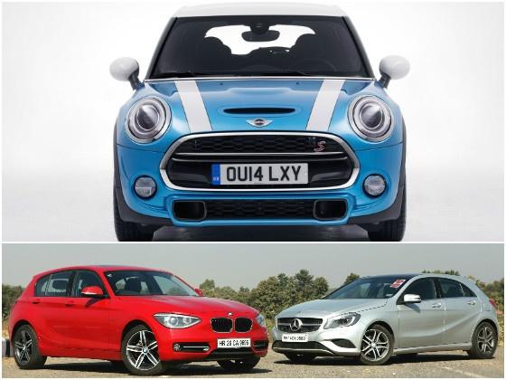 MINI Cooper 5-Door vs BMW 1-Series vs Mercedes A-Class - Diesel Hatchbacks Spec Comparison