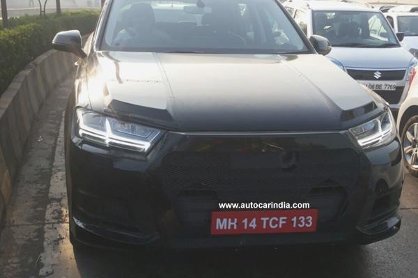 New Audi Q7 Spied In India