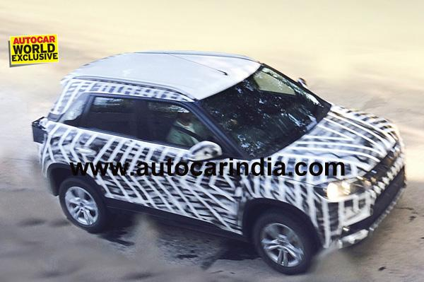 New Maruti Compact SUV Spied Testing