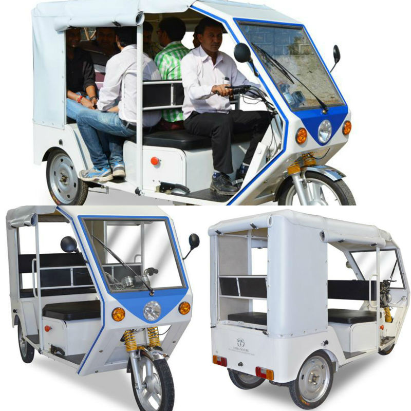 Terra Motors R6 Electric 3-Wheeler Auto Rickshaw Unveiled For India