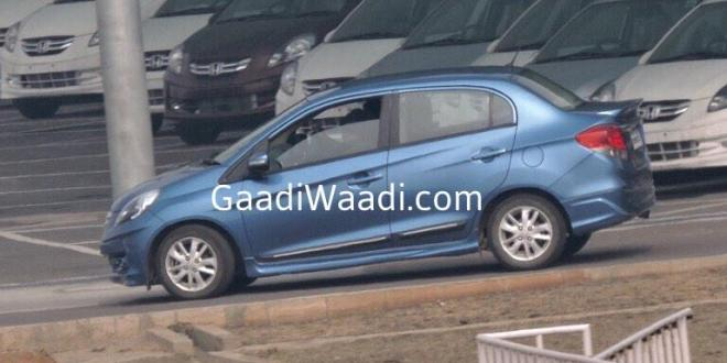 Honda Amaze Spotted With Body Kit