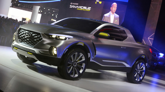 Hyundai HCD-15 Santa Cruz Compact Pickup Truck Unveiled At Detroit 2015
