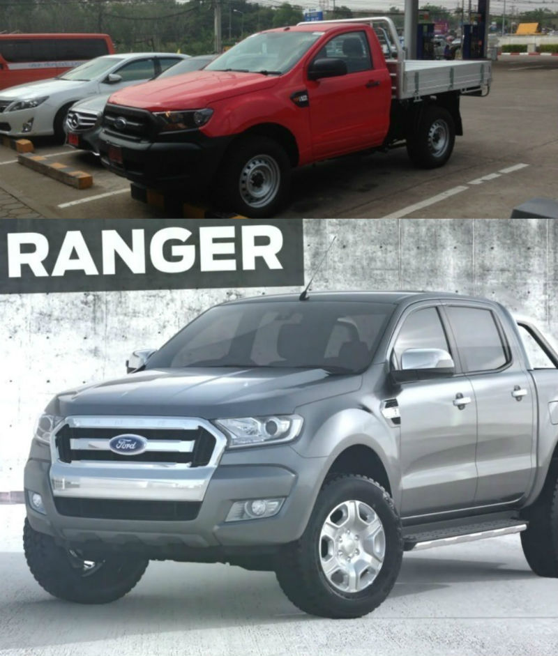 2015 Ford Ranger Facelift Spied In Thailand Without Camouflage