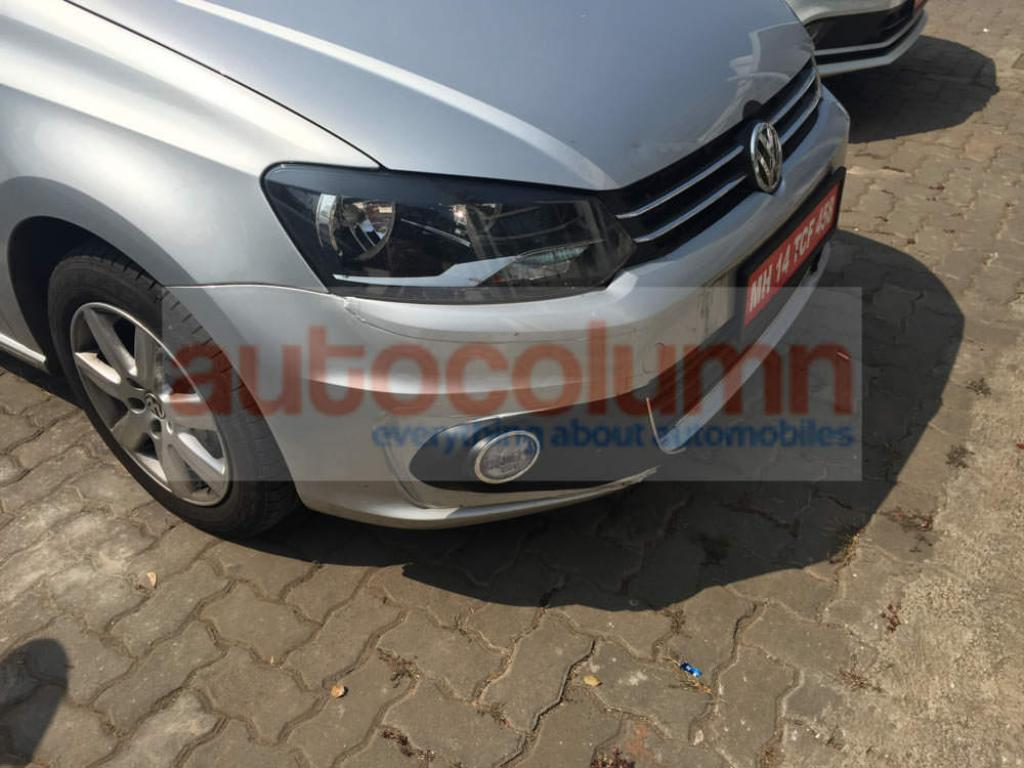 2015 Volkswagen Vento Facelift Spied For First Time