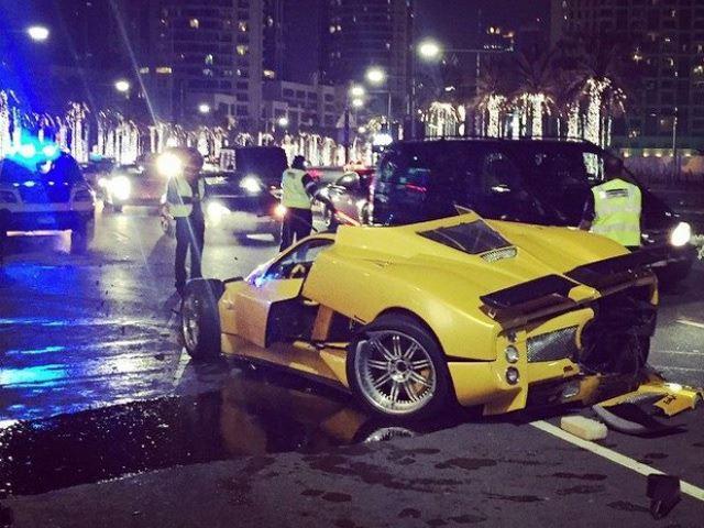 Rare Pagani Zonda F Crashed