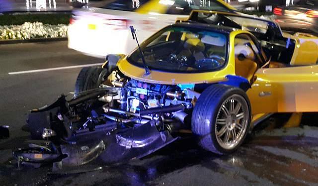 Pagani Zonda F Crashed