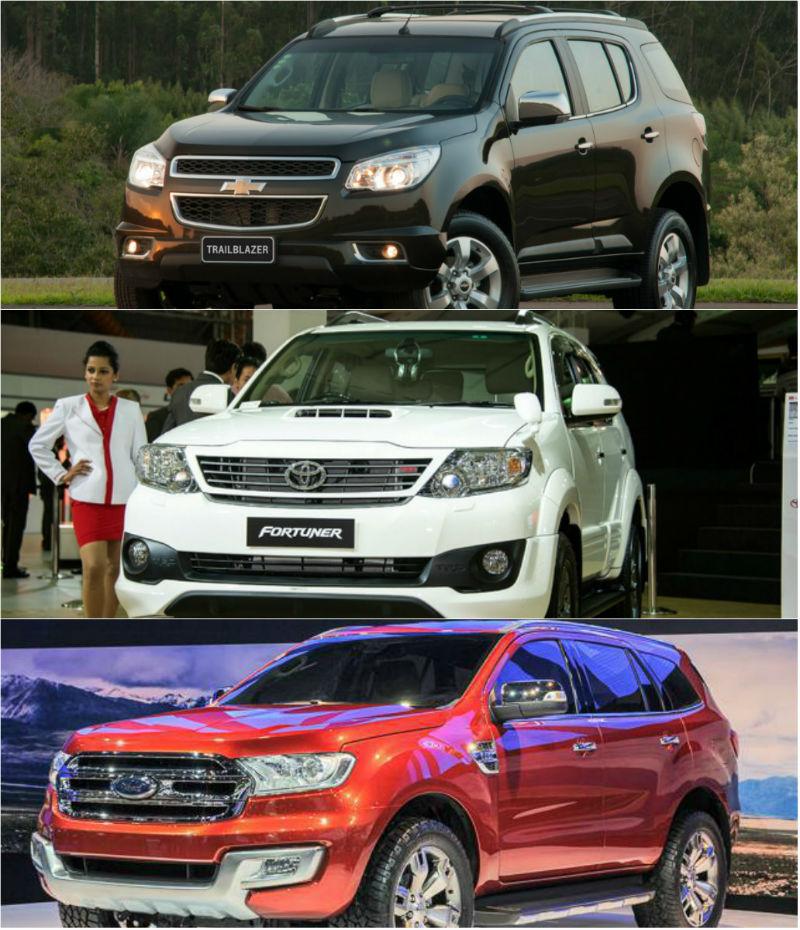 Chevrolet Trailblazer Vs New Ford Endeavour Vs Toyota Fortuner