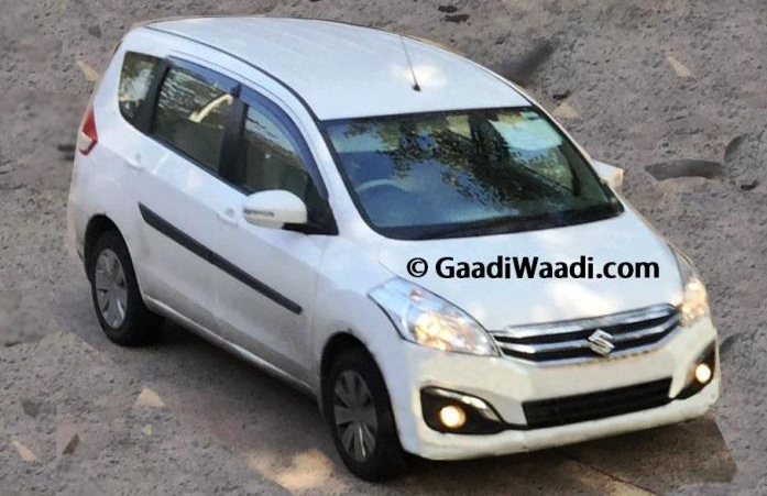 Maruti Ertiga Facelift Spotted Clearly; Launching In June