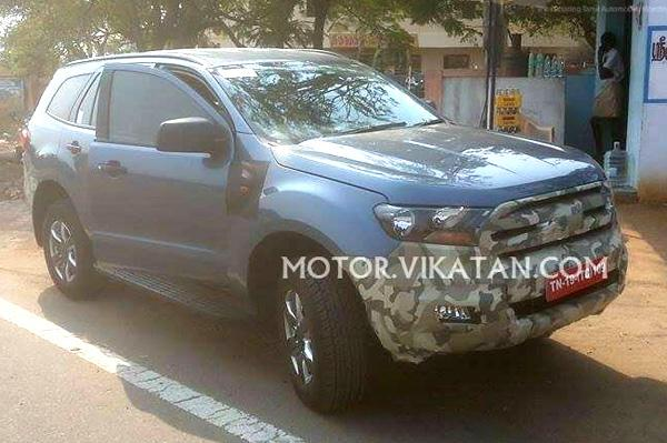 New Ford Endeavour Commences Tests In India