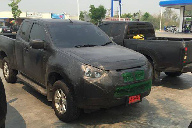Isuzu D-Max Facelift Spotted