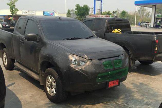 Isuzu D-Max Facelift Spotted
