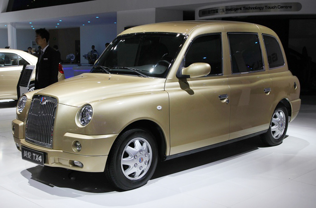 London Cab Turns Golden At Shanghai Auto Show - Geely Englon TX4