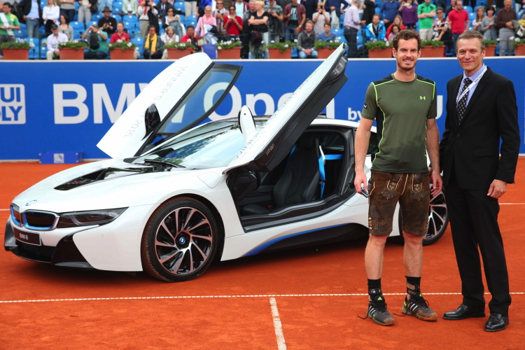 Andy Murray Gets i8 After Winning BMW Munich Open 2015