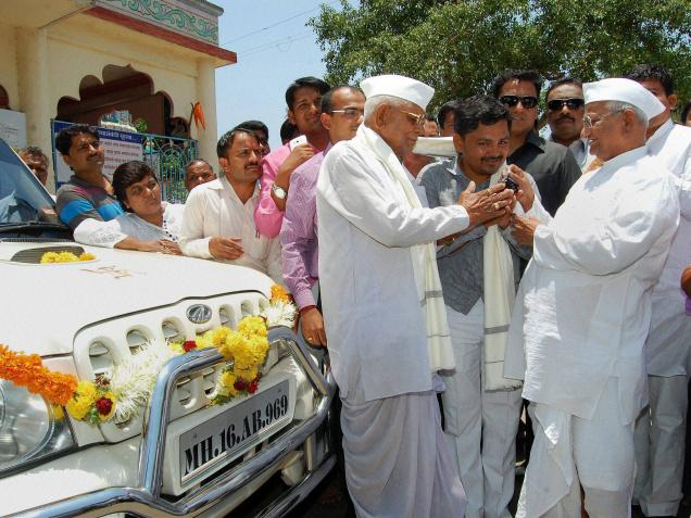 Anna Hazare's Mahindra Scorpio Auctioned For Rs 9.11 Lakh