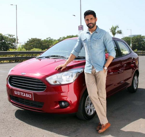 Farhan Akhtar Is The Brand Ambassador Of Ford Figo Aspire