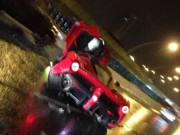 LaFerrari Crashed In Shanghai, China