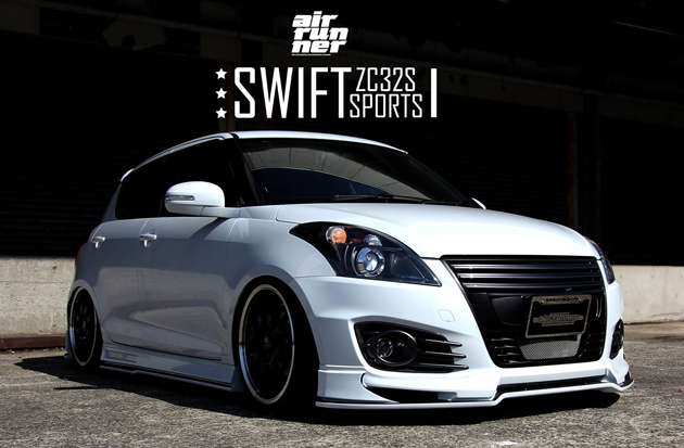 Suzuki Swift Sport With BELi Kit And Air Ride Suspension Looks Hotter