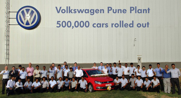 Volkswagen's Pune Manufacturing Facility Rolls Out 5 Lakh Cars