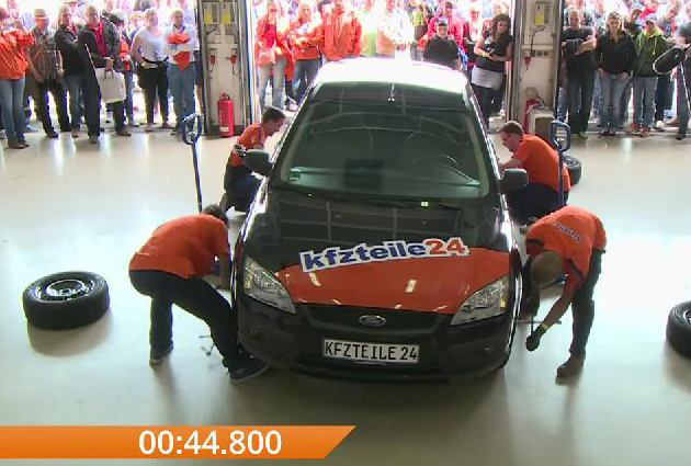 German Team Sets New Guinness World Record For The Fastest Tyre Change