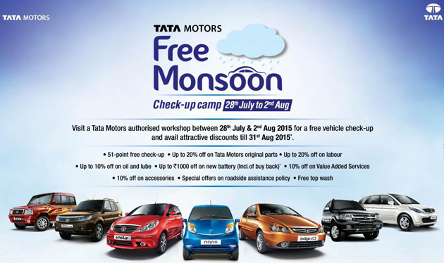 Tata Motors to Organize Nationwide Free Monsoon Check-Up Camps