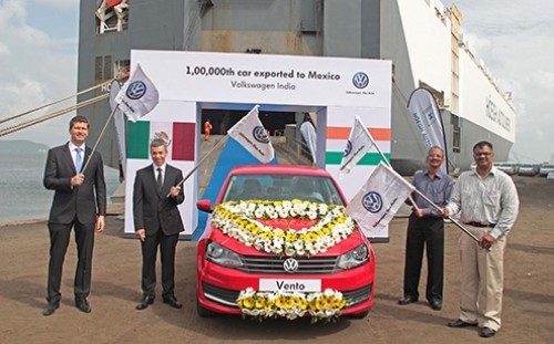 1 Lakh Volkswagen Vento Exported from India to Mexico