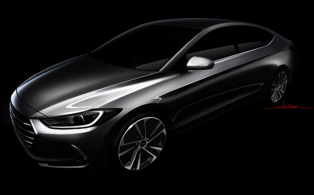 All new Elantra teased by Hyundai