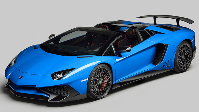 Lamborghini  Aventador SV Roadster Debuts in California
