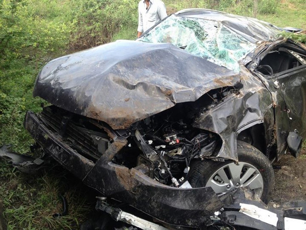 Maruti S-Cross Meets With Accident Even Before Launch