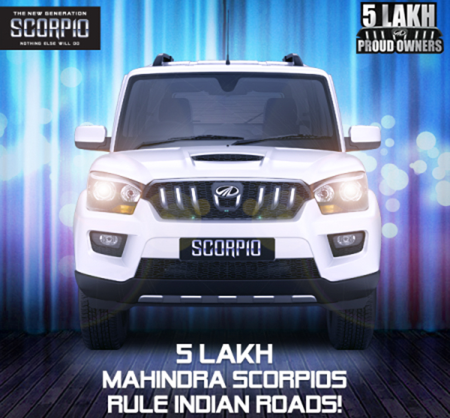 Five Lakh Mahindra Scorpios Sold in India