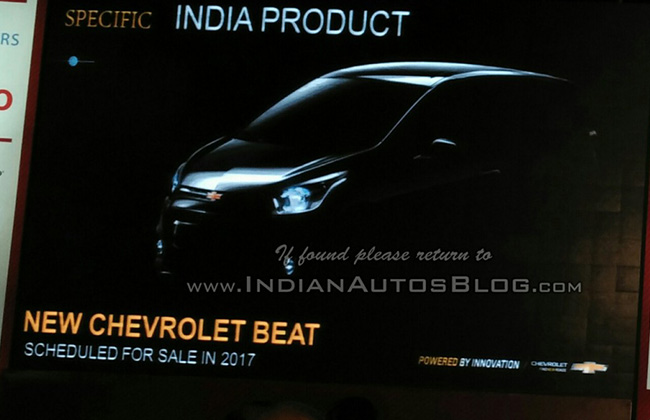 General Motors Teases Indian Bound 2017 Chevrolet Beat