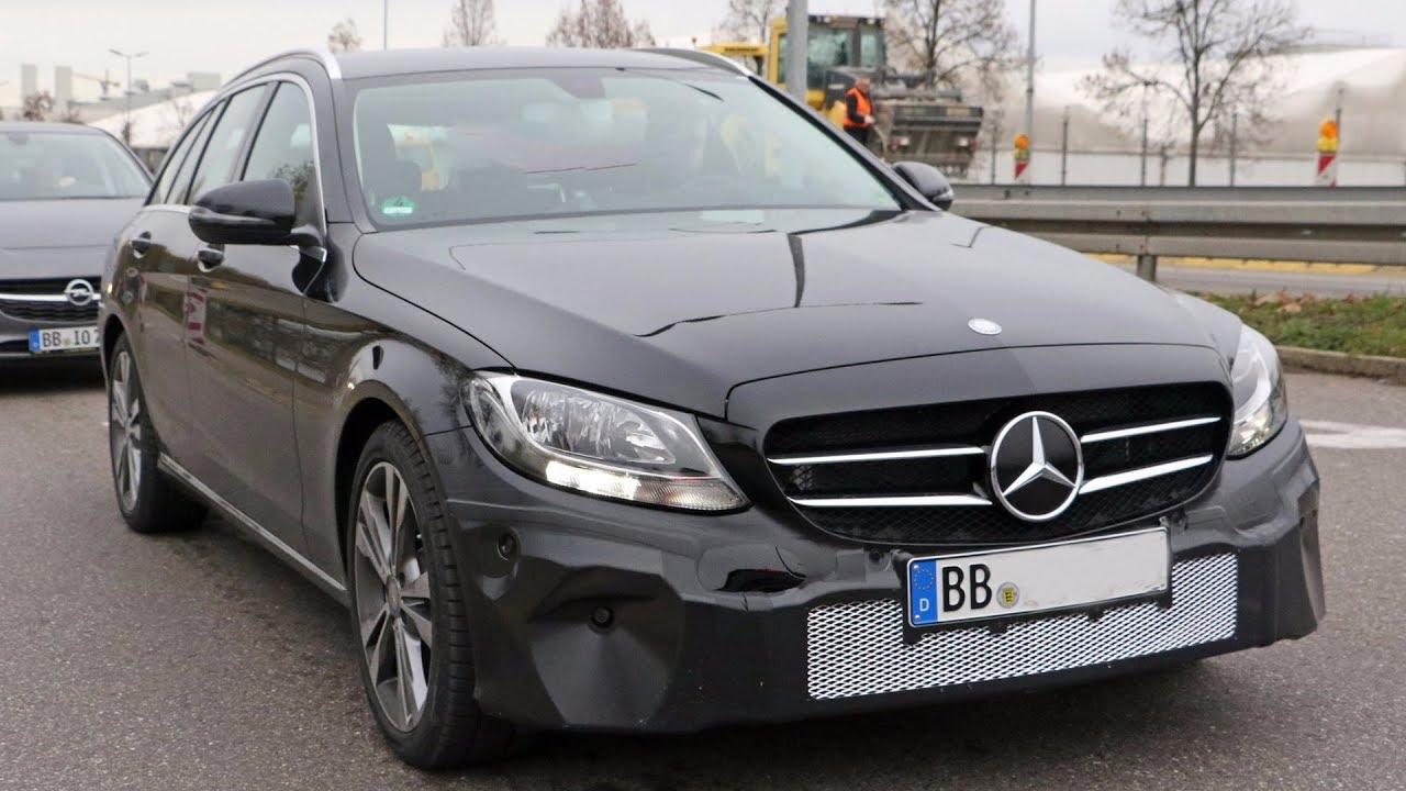 2018 Mercedes C Class facelift snapped with new Multibeam LED headlamps
