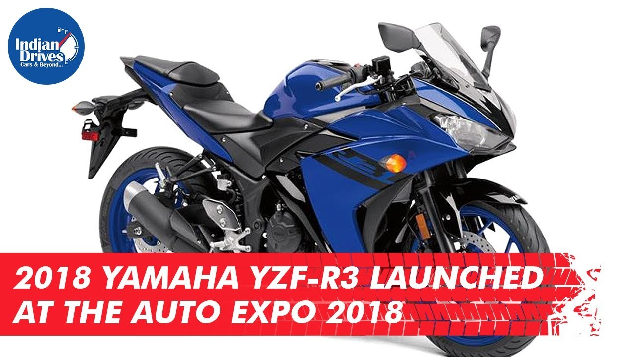 2018 Yamaha YZF-R3 Launched At The Auto Expo 2018