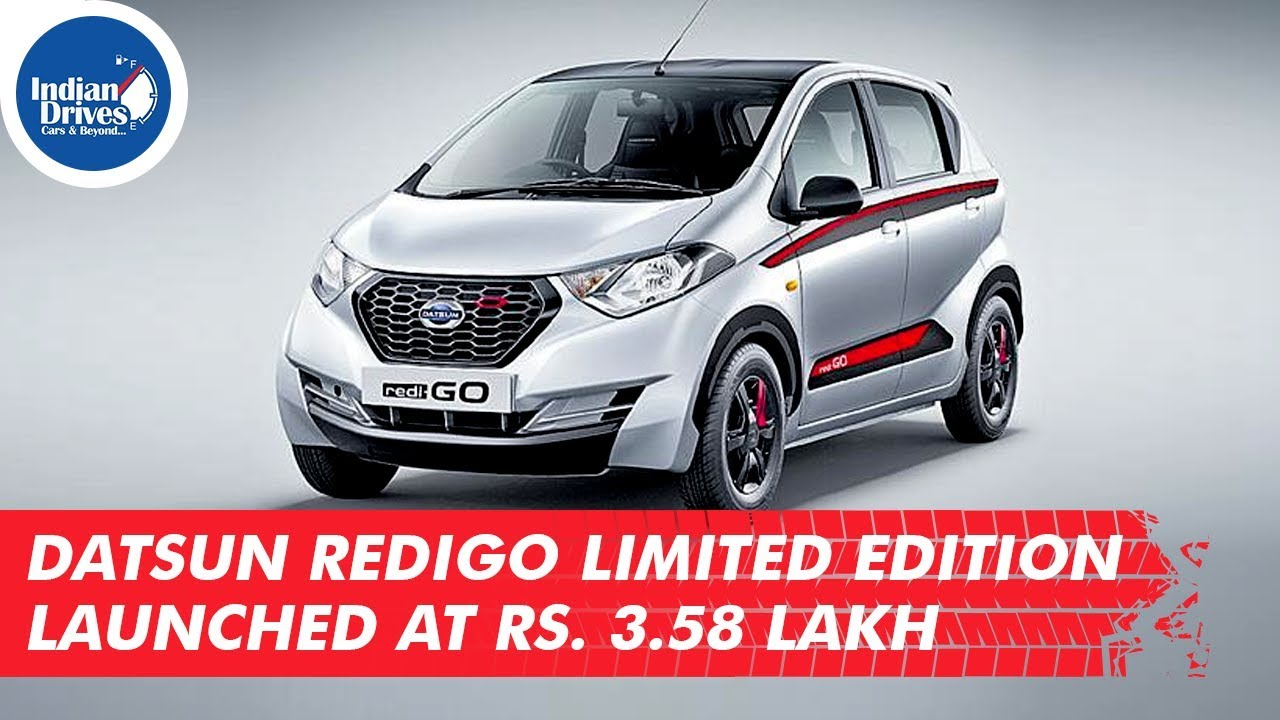 Datsun Redigo Limited Edition Launched At Rs. 3.58 Lakh
