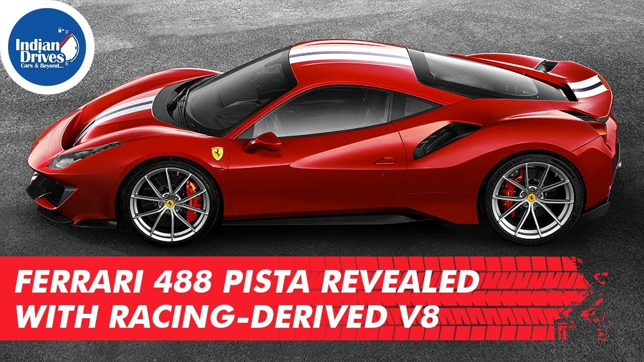 Ferrari 488 Pista Revealed With Racing-Derived V8