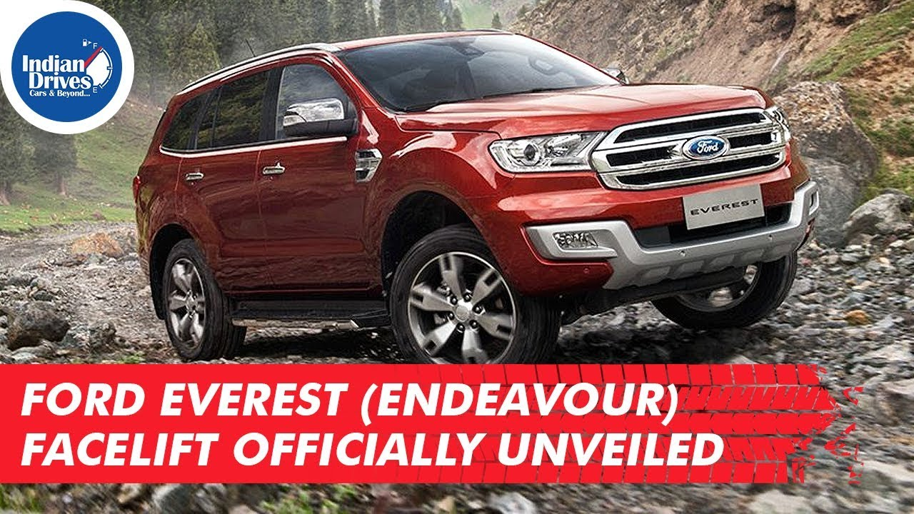 Ford Everest (Endeavour) Facelift Officially Unveiled