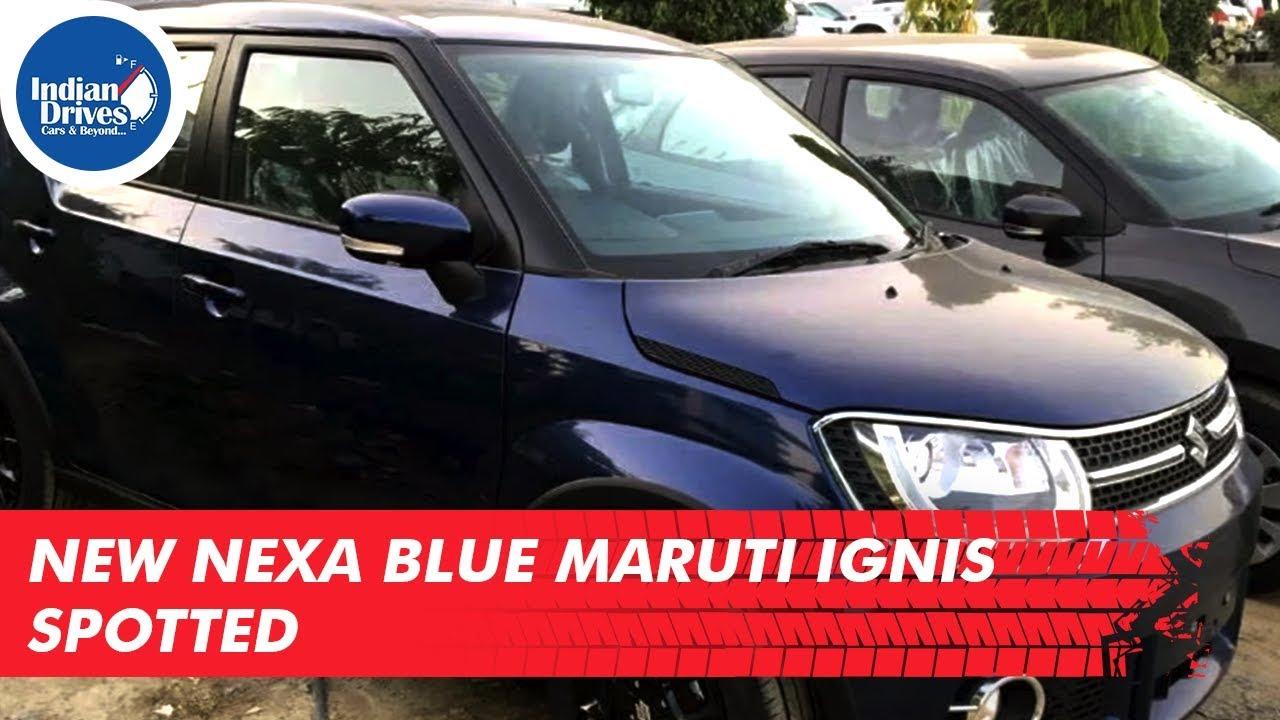 New Nexa Blue Maruti Ignis Spotted